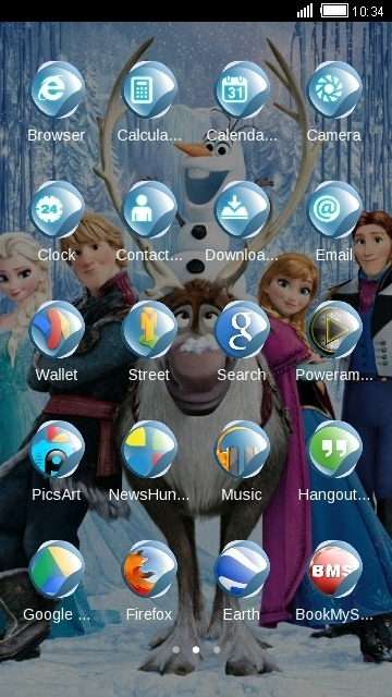 Frozen CLauncher Android Theme Image 2