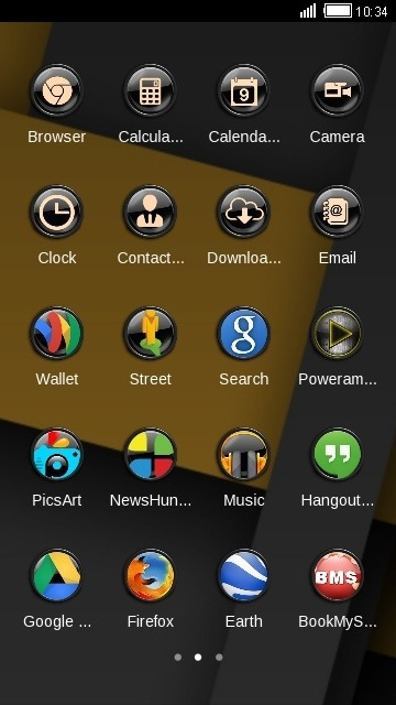 Dark CLauncher Android Theme Image 2