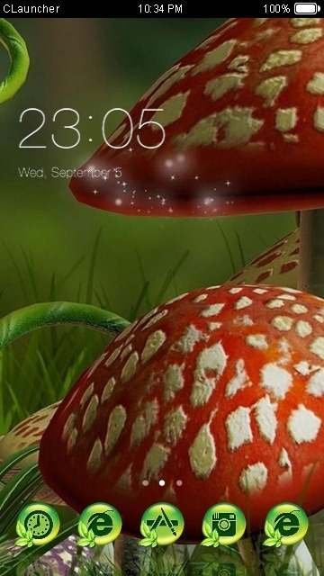 Mushrooms CLauncher Android Theme Image 1