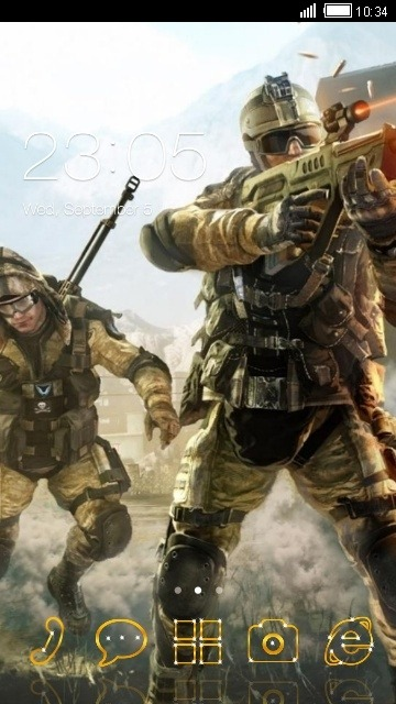 Warface CLauncher Android Theme Image 1