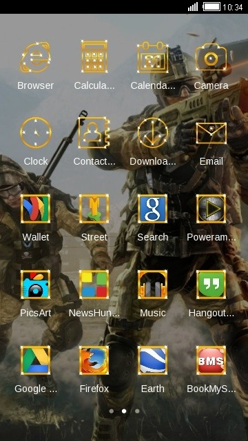 Warface CLauncher Android Theme Image 2