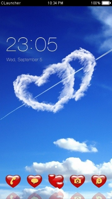 Love Hearts CLauncher Android Theme Image 1