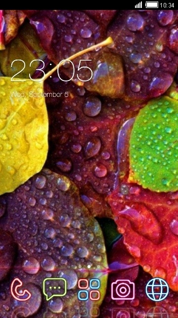 Leaf CLauncher Android Theme Image 1