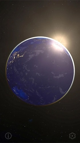 Earth And Moon 3D Android Wallpaper Image 2