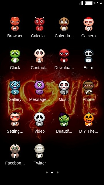 Fire Love CLauncher Android Theme Image 2