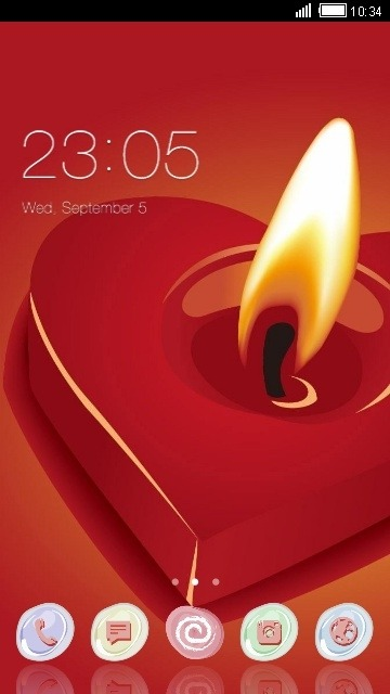 Download Free Android Theme Love CLauncher - 4540