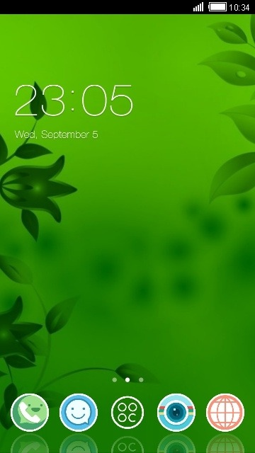 Green CLauncher Android Theme Image 1