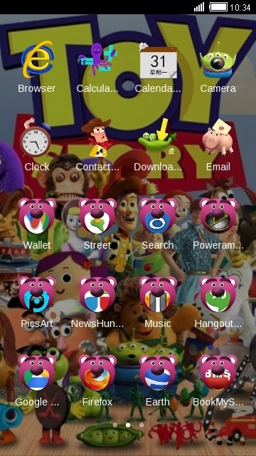 Toy Story CLauncher Android Theme Image 2
