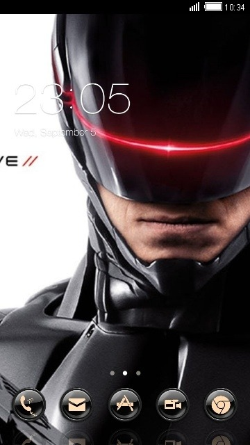 RoboCop CLauncher Android Theme Image 1