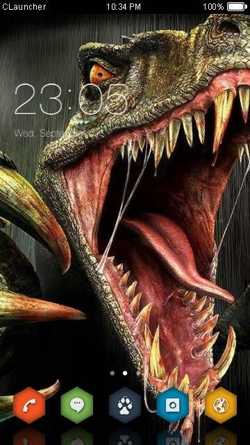 Dinosaur CLauncher Android Theme Image 1