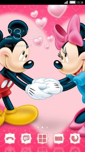 Mickey & Minnie CLauncher Android Theme Image 1