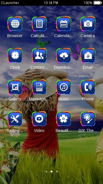 Scenery CLauncher Android Theme Image 2
