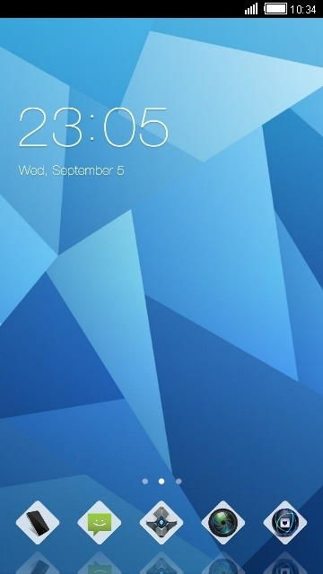 Blue Crystal CLauncher Android Theme Image 1