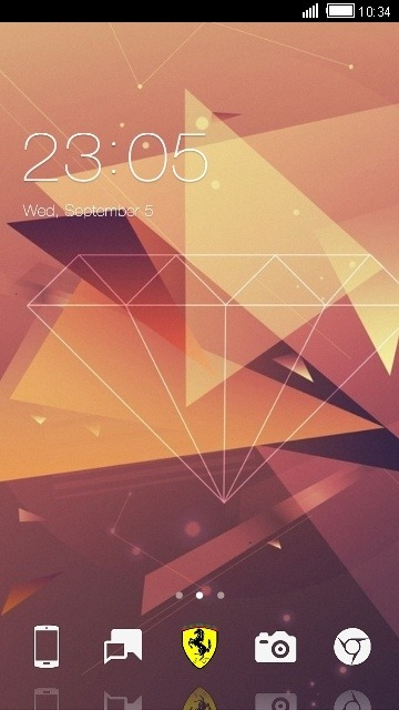 Diamond CLauncher Android Theme Image 1