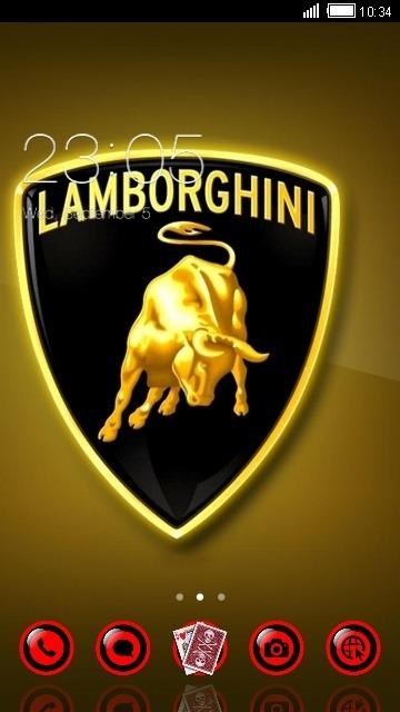Lamborghini CLauncher Android Theme Image 1