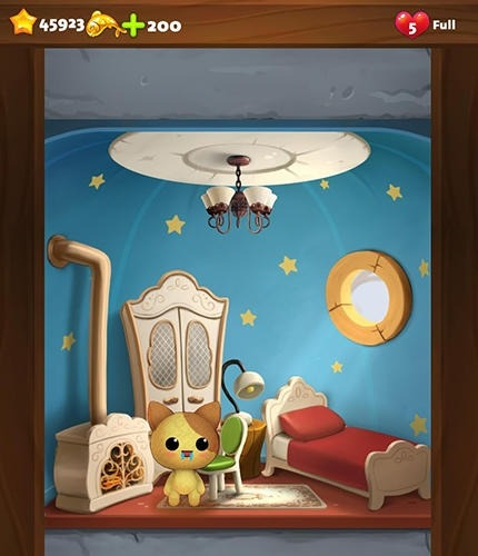 Cat Home Design: Decorate Cute Magic Kitty Mansion Android Game Image 3