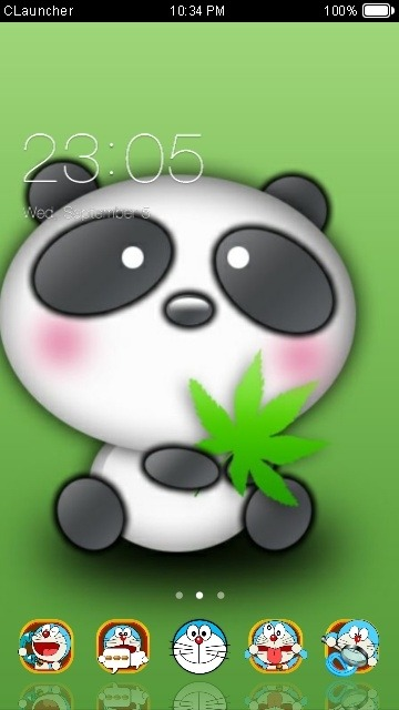 Cute Panda CLauncher Android Theme Image 1