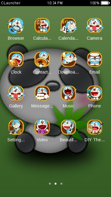 Cute Panda CLauncher Android Theme Image 2