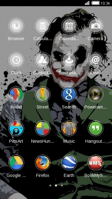 Joker CLauncher Android Theme Image 2