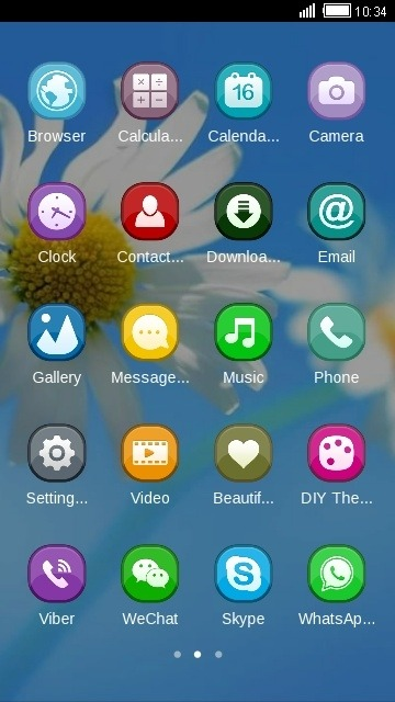 Flowers CLauncher Android Theme Image 2