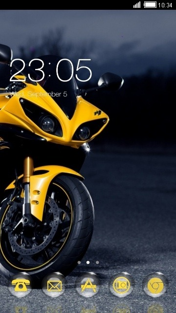 Yamaha CLauncher Android Theme Image 1