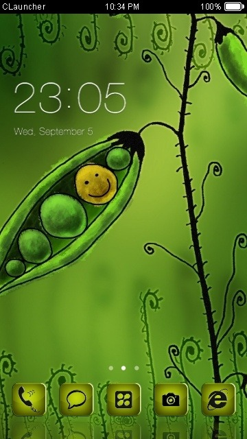 Peas CLauncher Android Theme Image 1