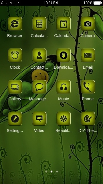 Peas CLauncher Android Theme Image 2