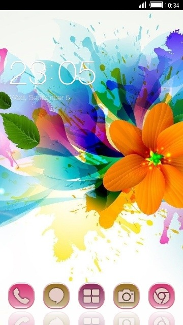 Colorful Flower CLauncher Android Theme Image 1