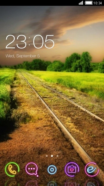 Railway Track CLauncher Android Theme Image 1