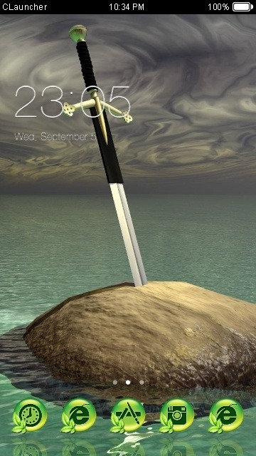 Sword In The Stone CLauncher Android Theme Image 1