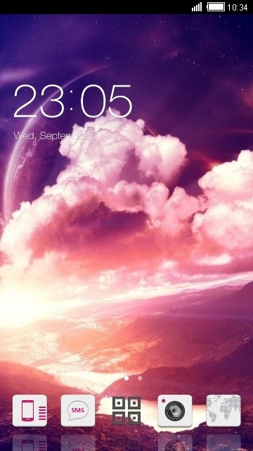 Pink Sky CLauncher Android Theme Image 1