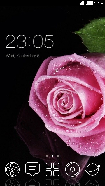 Pink Flower CLauncher Android Theme Image 1