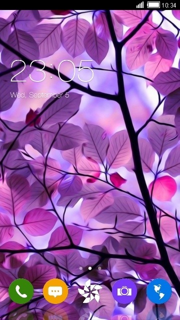 Purple Leaf CLauncher Android Theme Image 1