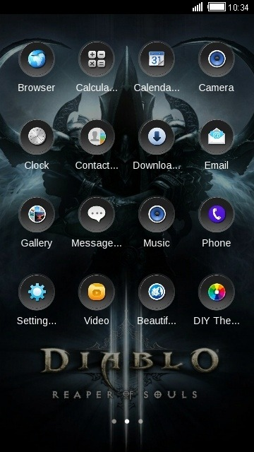 Grim CLauncher Android Theme Image 2