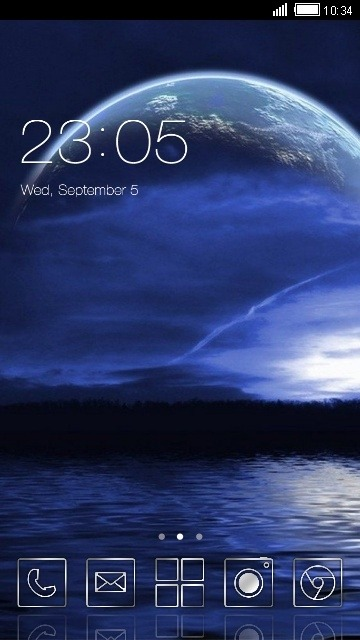 Earth CLauncher Android Theme Image 1