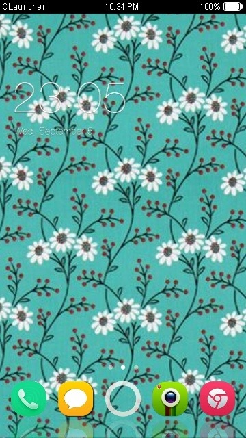 Flowers Pattern CLauncher Android Theme Image 1