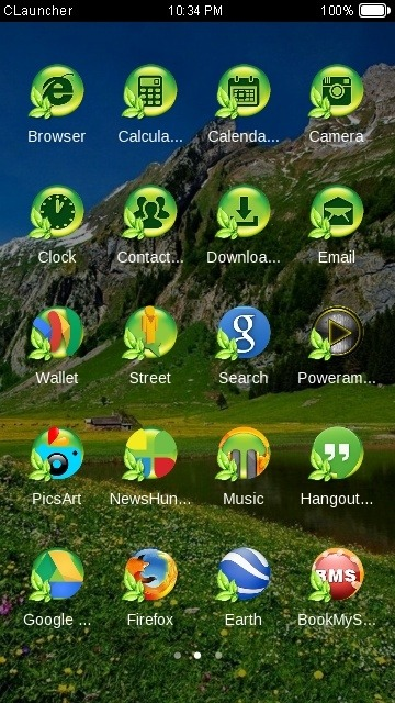 Nature CLauncher Android Theme Image 2
