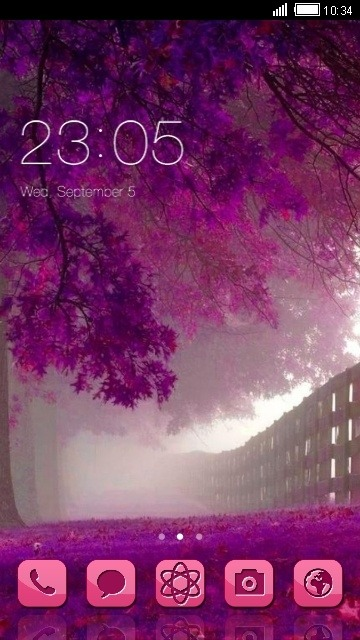 Violet CLauncher Android Theme Image 1