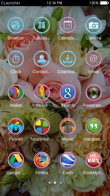 Bouquet CLauncher Android Theme Image 2