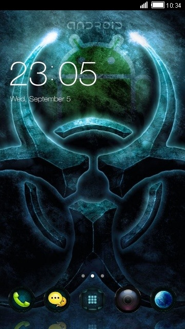 Android BioHazard CLauncher Android Theme Image 1