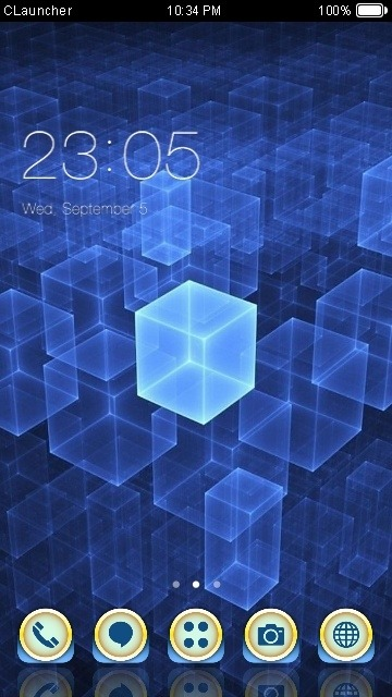 Cubes CLauncher Android Theme Image 1