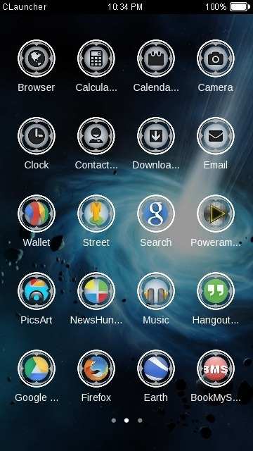 Galaxy CLauncher Android Theme Image 2