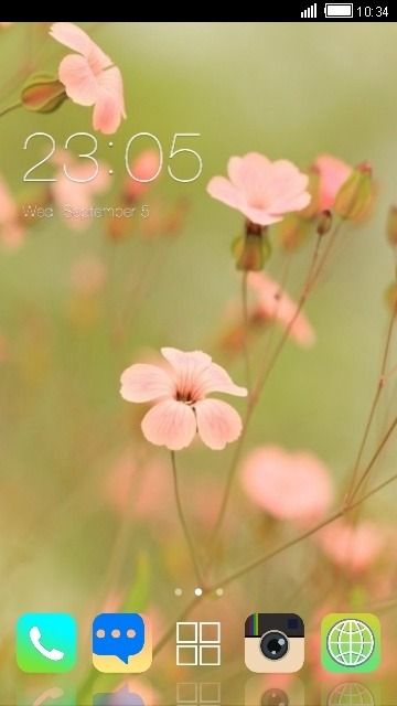 Pink Flowers CLauncher Android Theme Image 1