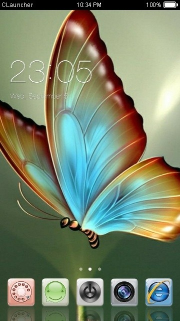 Butterfly CLauncher Android Theme Image 1