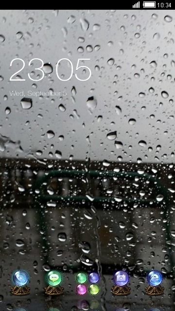 Raindrops CLauncher Android Theme Image 1