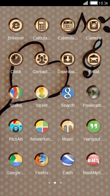 Love CLauncher Android Theme Image 2