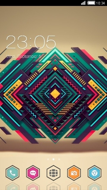 Abstract Design CLauncher Android Theme Image 1