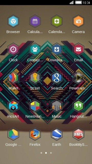 Abstract Design CLauncher Android Theme Image 2