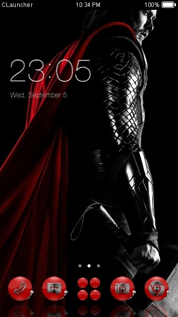 Thor CLauncher Android Theme Image 1