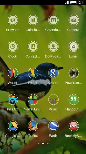 Finch CLauncher Android Theme Image 2